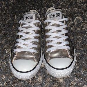 Converse Metallic Light Gold Shoes